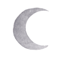 Icon - Moon - gray watercolor waning moon icon