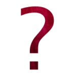 Icon - Question - red watercolor question mark