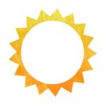 Icon - Sun - gold watercolor sun