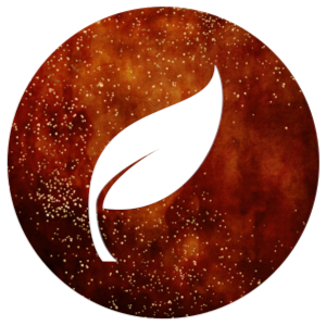 Beginning icon: leaf on a red background