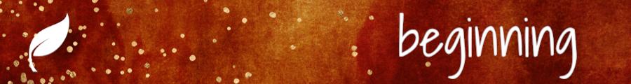 Beginning: leaf on a red background