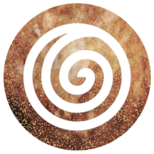 Doing icon: Spiral on a golden background