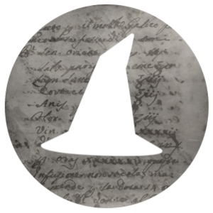 Questions icon: witch's hat on a grey background