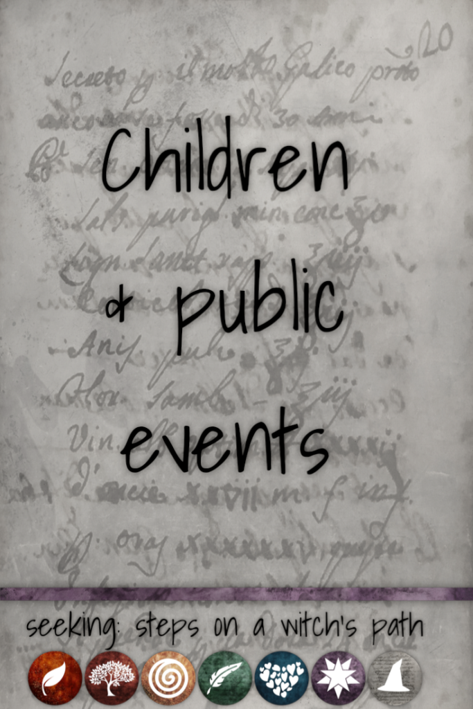 Title card: Children and public events