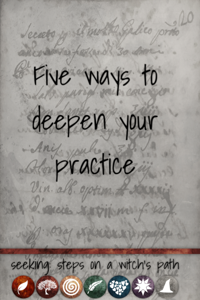 Title card: Five ways to deepen your practice