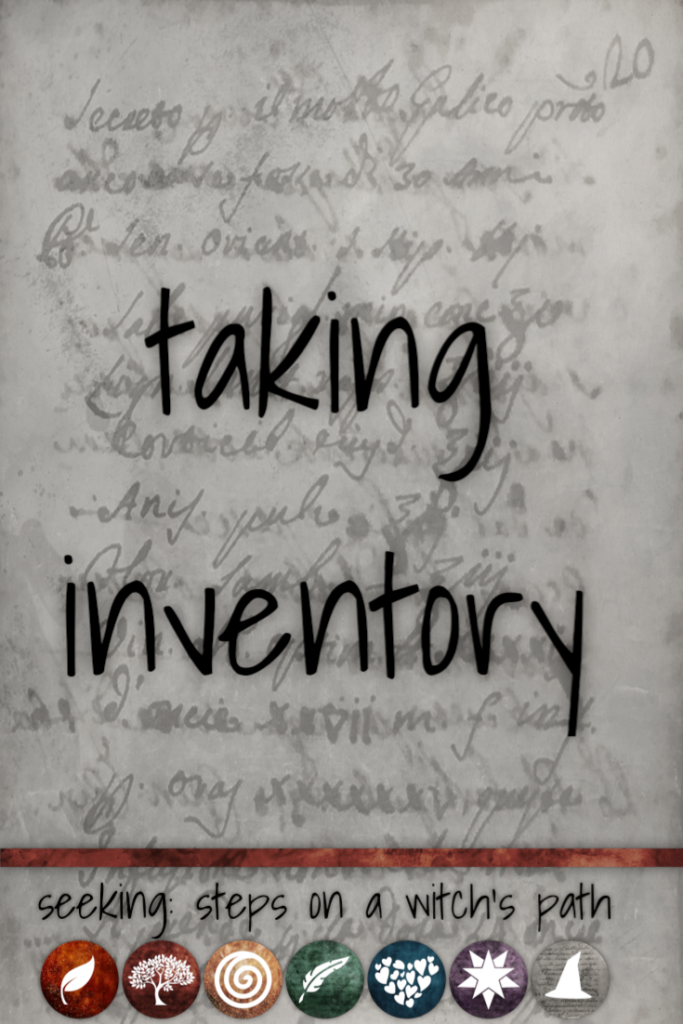 Title card: Taking inventory