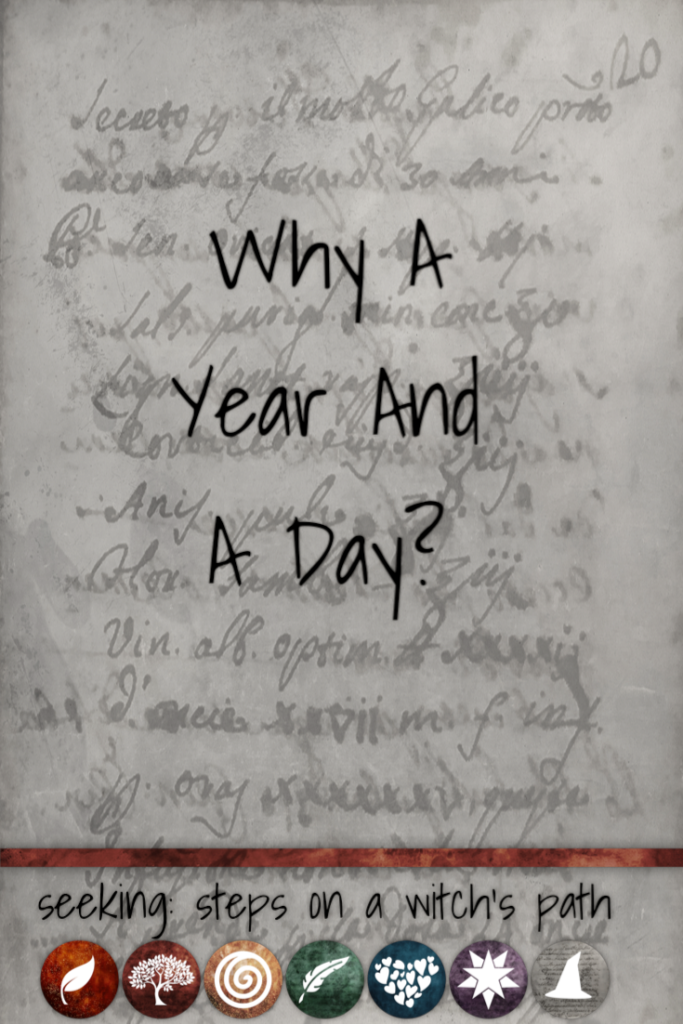 Title card: Why a year and a day?
