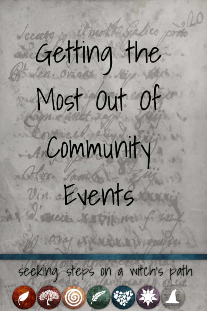 Title card: Getting the most out of community events.