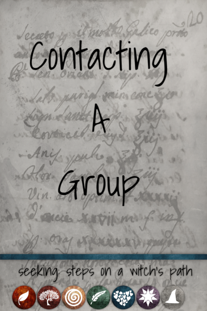Title card: Contacting a group