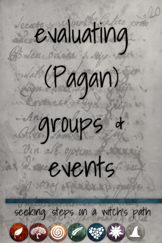 Title card: Evaluating (Pagan) groups and events.