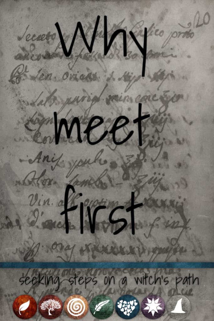 Title card: why meet first