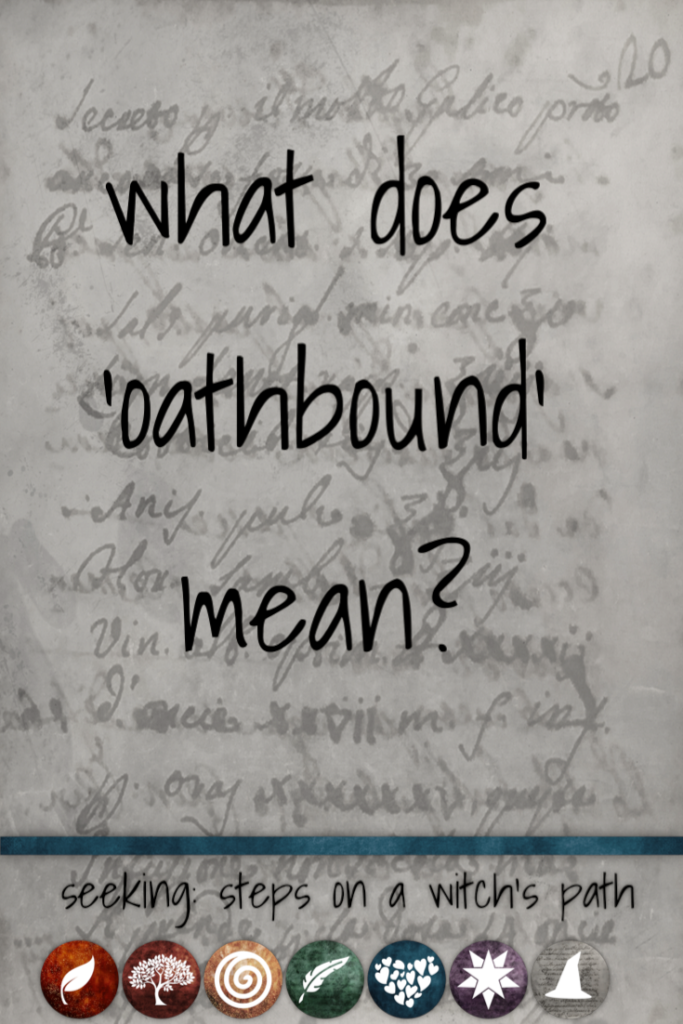 Title card: What does oathbound mean?