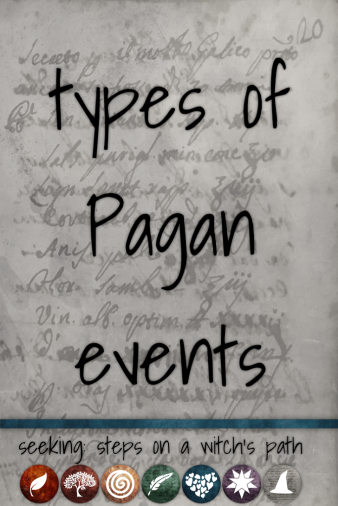 Title card: types of Pagan events