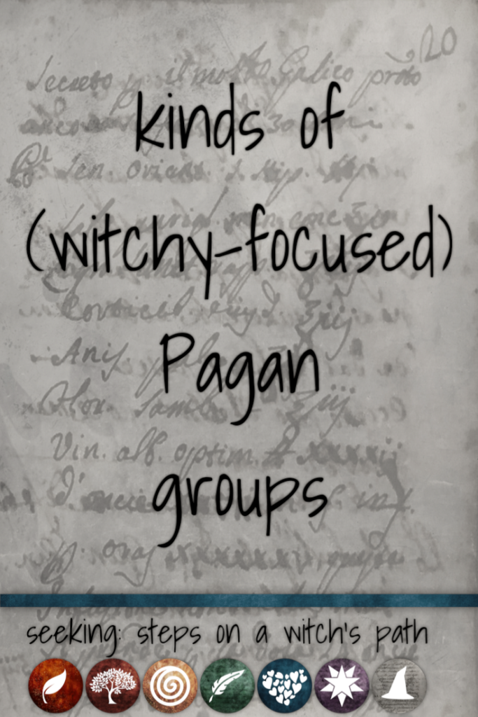 Title card: kinds of (witchy-focused) Pagan groups