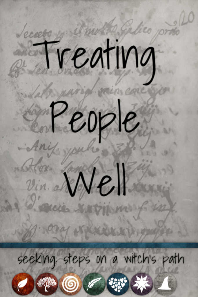 Title card: Treating people well