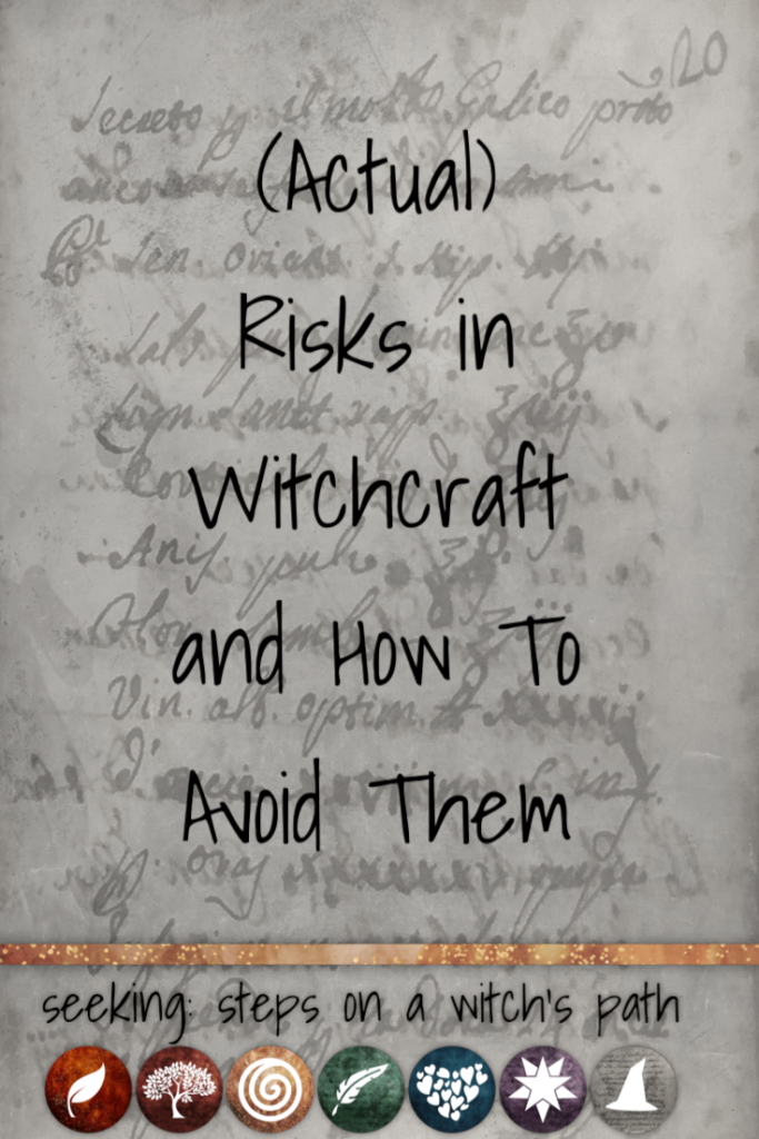 Title card: (Actual) risks in witchcraft and how to avoid them.