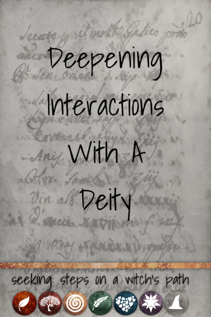 Title card: Deepening interactions with a deity