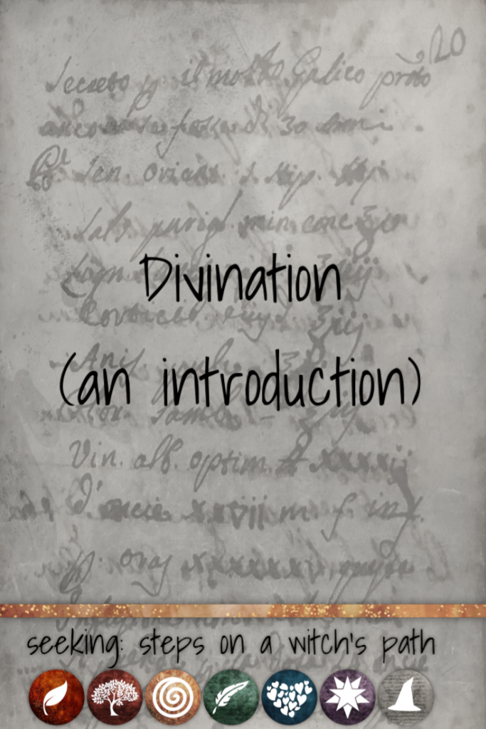Title card: Divination (an introduction)