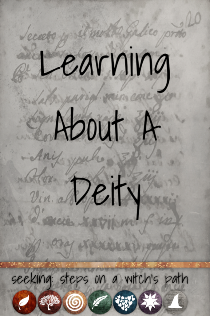 Title card: Learning about a deity