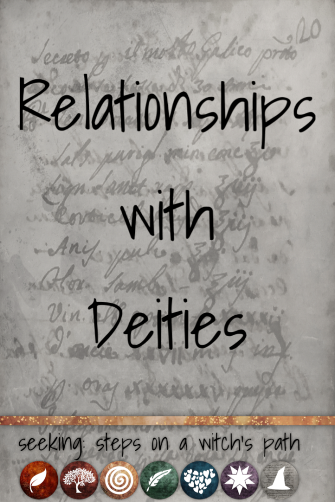 Title card: Relationships with deities