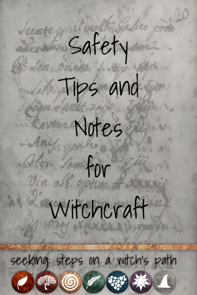 Title card: Safety tips and notes for witchcraft