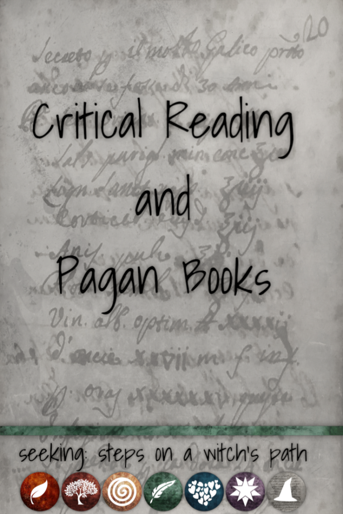 Title card: Critical reading and Pagan books