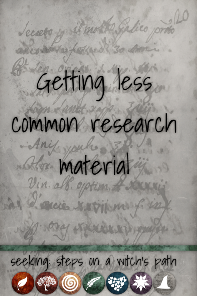 Title card: Getting less common research material.