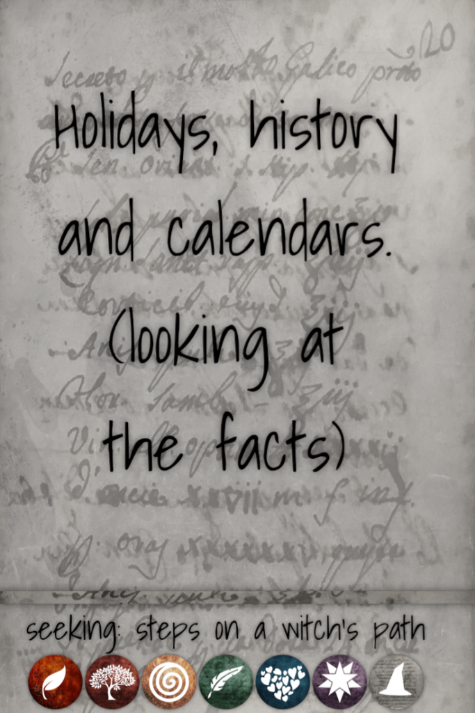 Title card: Holidays, history, and calendars (looking at the facts)