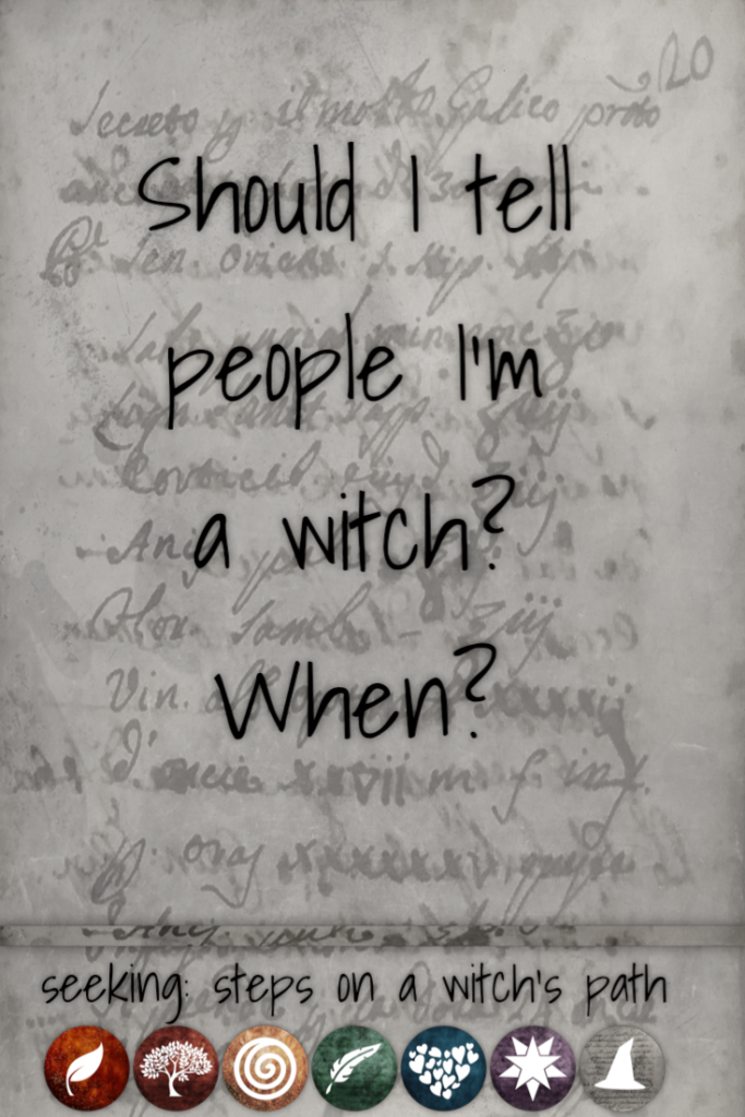 Title card: Should I tell people I'm a witch? When?