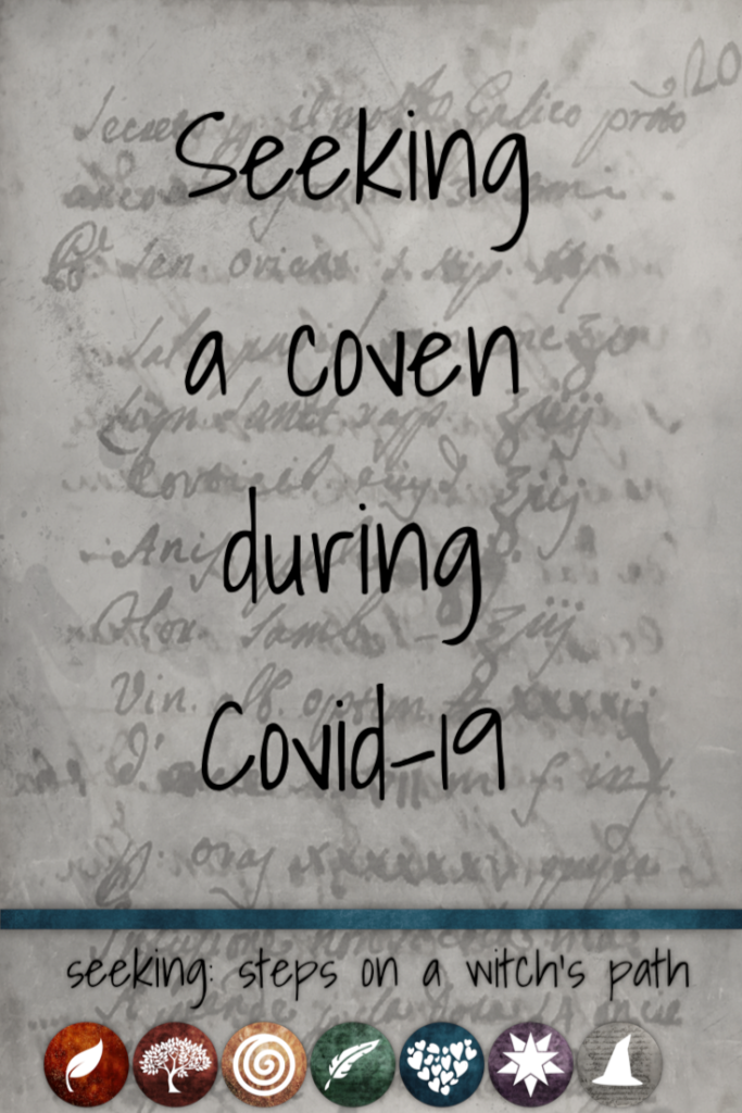 Title card: Seeking a coven during Covid-19